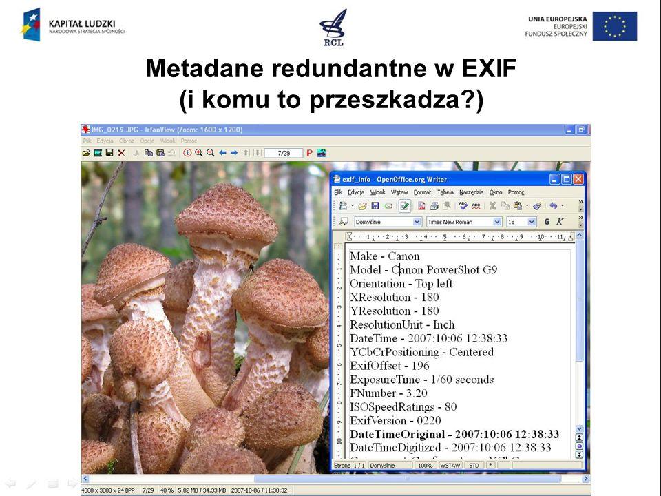 Metadane redundantne w EXIF (i komu to przeszkadza?)