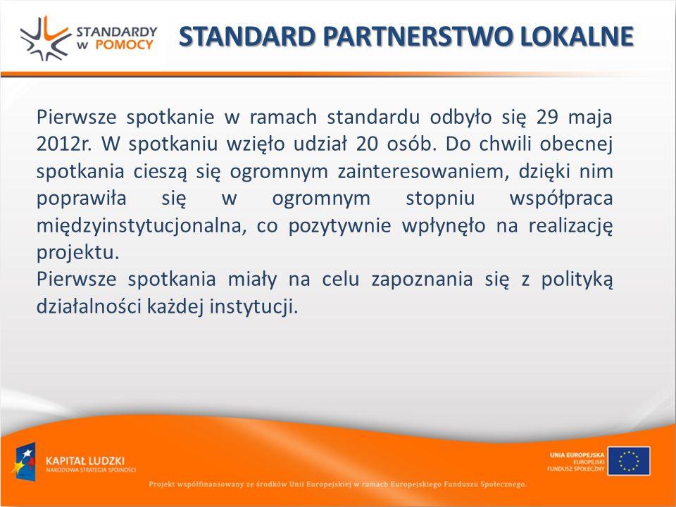Pierwsze spotkanie w ramach standardu odbyło się 29 maja 2012r. W spotkaniu wzięło udział 20 osób. Do chwili obecnej spotkania cieszą się ogromnym zai