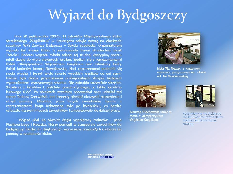 Gimnazjada RUNDA GIMNAZJADY (19.10.2007) 19 października 2007 r. na strzelnicy Międzyszkolnego Klubu Strzeleckiego Sagittarius w Mniszku w odbyła się