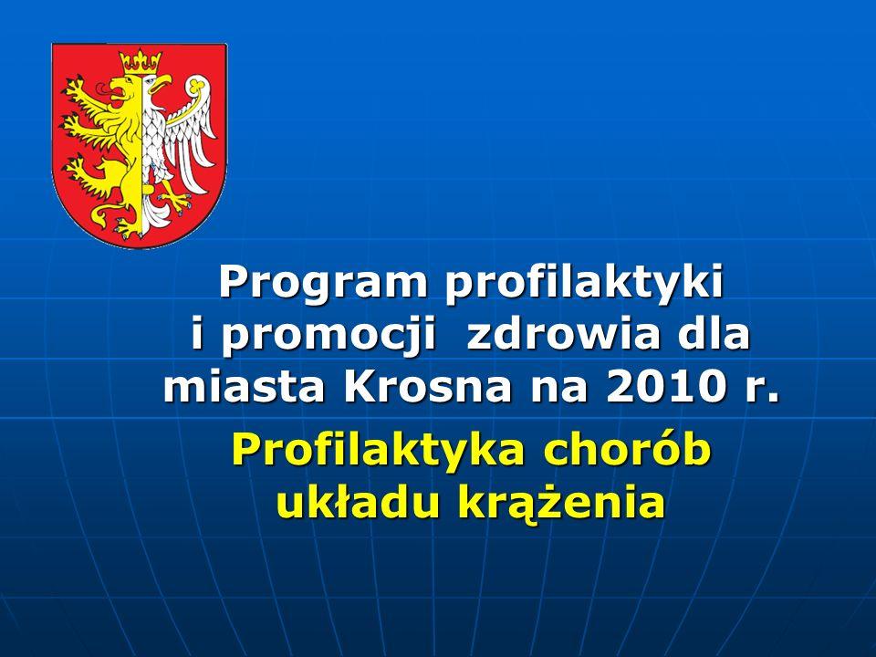 Wprowadzenie Miasto Krosno, w zakresie promocji i ochrony zdrowia od wielu lat podejmuje działania w celu poprawy zdrowia oraz jakości życia mieszkańców poprzez organizowanie akcji profilaktycznych oraz finansowanie programów prewencyjnych, które uzupełniają zakres świadczeń finansowanych przez Narodowy Fundusz Zdrowia.