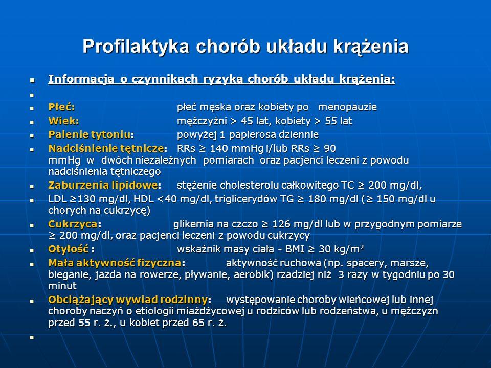 Profilaktyka chorób układu krążenia Informacja o czynnikach ryzyka chorób układu krążenia: Informacja o czynnikach ryzyka chorób układu krążenia: Płeć