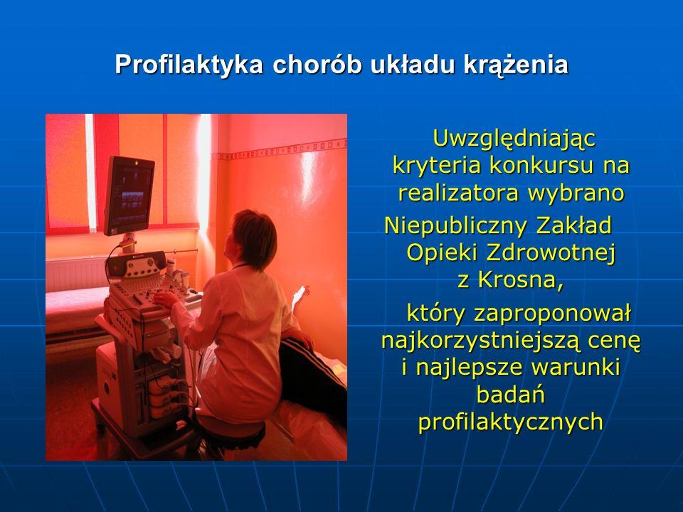 Profilaktyka chorób układu krążenia Uwzględniając kryteria konkursu na realizatora wybrano Uwzględniając kryteria konkursu na realizatora wybrano Niep