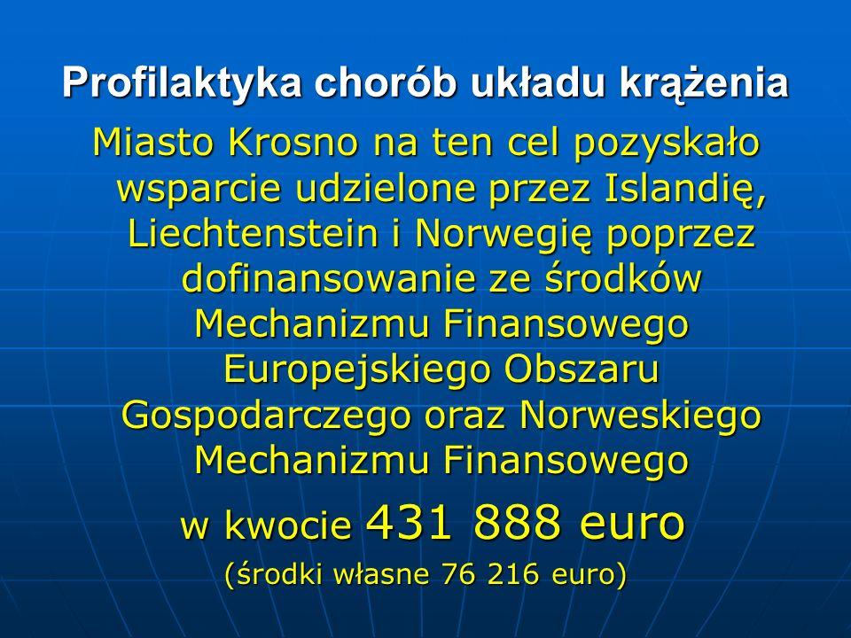 Profilaktyka chorób układu krążenia Miasto Krosno na ten cel pozyskało wsparcie udzielone przez Islandię, Liechtenstein i Norwegię poprzez dofinansowa