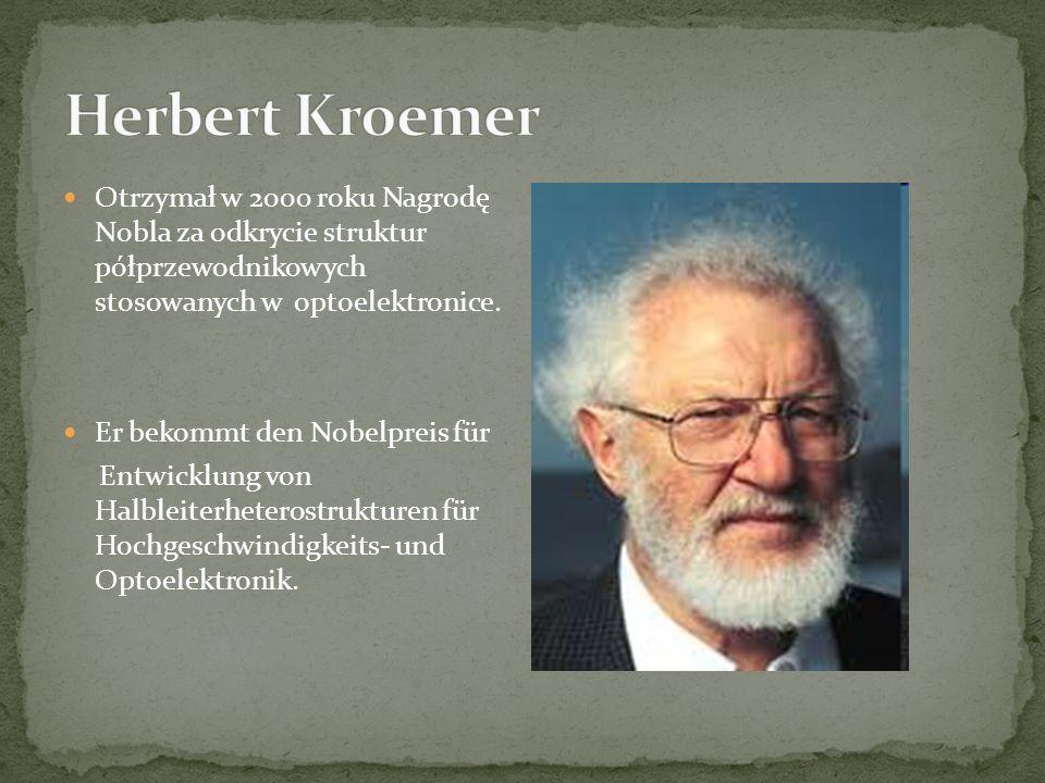 Otrzymał w 2000 roku Nagrodę Nobla za odkrycie struktur półprzewodnikowych stosowanych w optoelektronice.