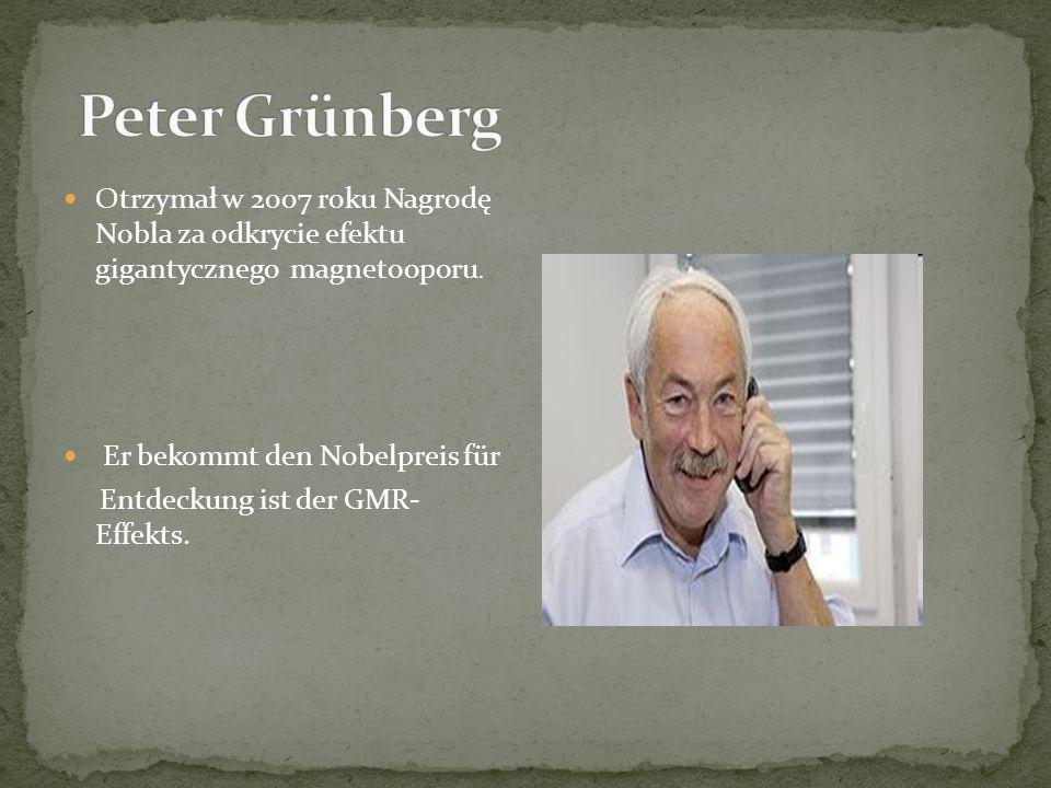 Otrzymał w 2007 roku Nagrodę Nobla za odkrycie efektu gigantycznego magnetooporu.
