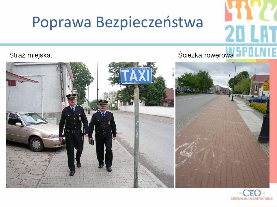 Poprawa Bezpieczeństwa Straż miejska.Ścieżka rowerowa