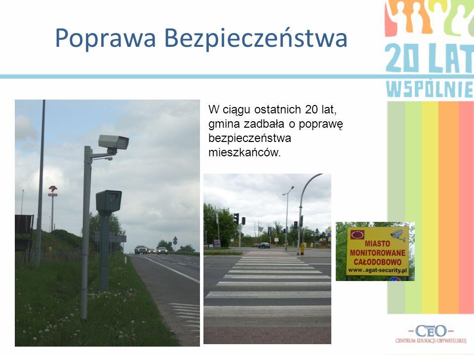 Poprawa Bezpieczeństwa W ciągu ostatnich 20 lat, gmina zadbała o poprawę bezpieczeństwa mieszkańców.
