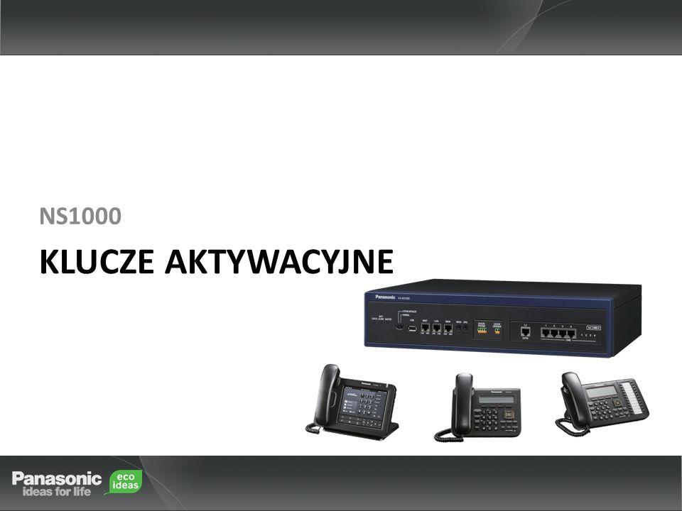 PrzedmiotNumer modeluSzczegółyPojemnośćUwagi StandaloneOne Look IP Extension Capacity KX-NSM00531 do 50 portów 640 Ports 1000 PortsMax 30 portów IP Phones są dostępne bez Klucza Aktywacyjnego KX-NSM01031-100 portów KX-NSM03031-300 portów KX-NSM09931-640 portów Bieżąca konfiguracja: Wykorzystane 40 Portów (KX-NSM005) Rozszerzenie dp 90 Portów Klucz KX-NSM005 musi zostać zastąpiony kluczem KX-NSM010 (Nie można używać dwóch KX-NSM005) Aneks - I 1) Pojemność IP Extension (Kontrola Dostępności Portów) Uwagi: 1.W tej konfiguracji, użytkownik powinien ustalić całkowitą liczbę: IP-PT/IP Soft Phone, SIP-MLT, SIP-Phone, SIP-DECT, IP-Display Phone i 3rd party SLT 2.Jeżeli użytkownik chciałby zwiększyć liczbę IP-Ext, powinien zakupić nowy Klucz Aktywacyjny.