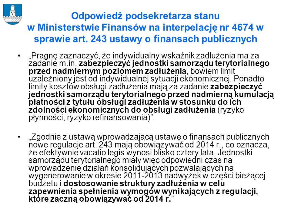 Indywidualny wskaźnik zadłużenia z art. 243 ustawy o finansach publicznych