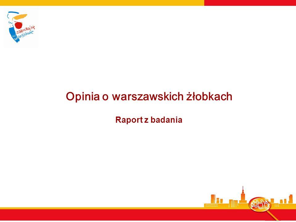 Opinia o warszawskich żłobkach Raport z badania