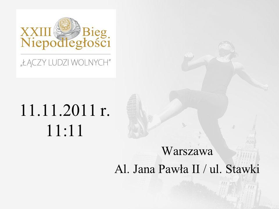 11.11.2011 r. 11:11 Warszawa Al. Jana Pawła II / ul. Stawki