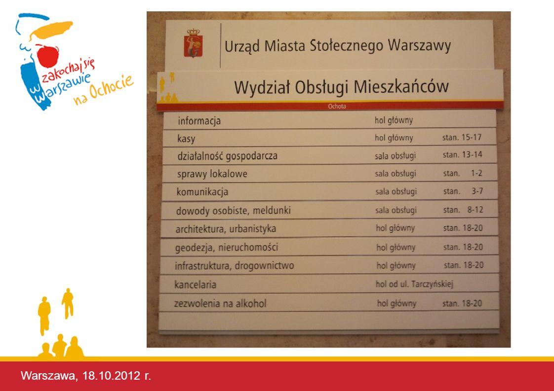 Warszawa, 17.10.2012 r. Warszawa, 18.10.2012 r.
