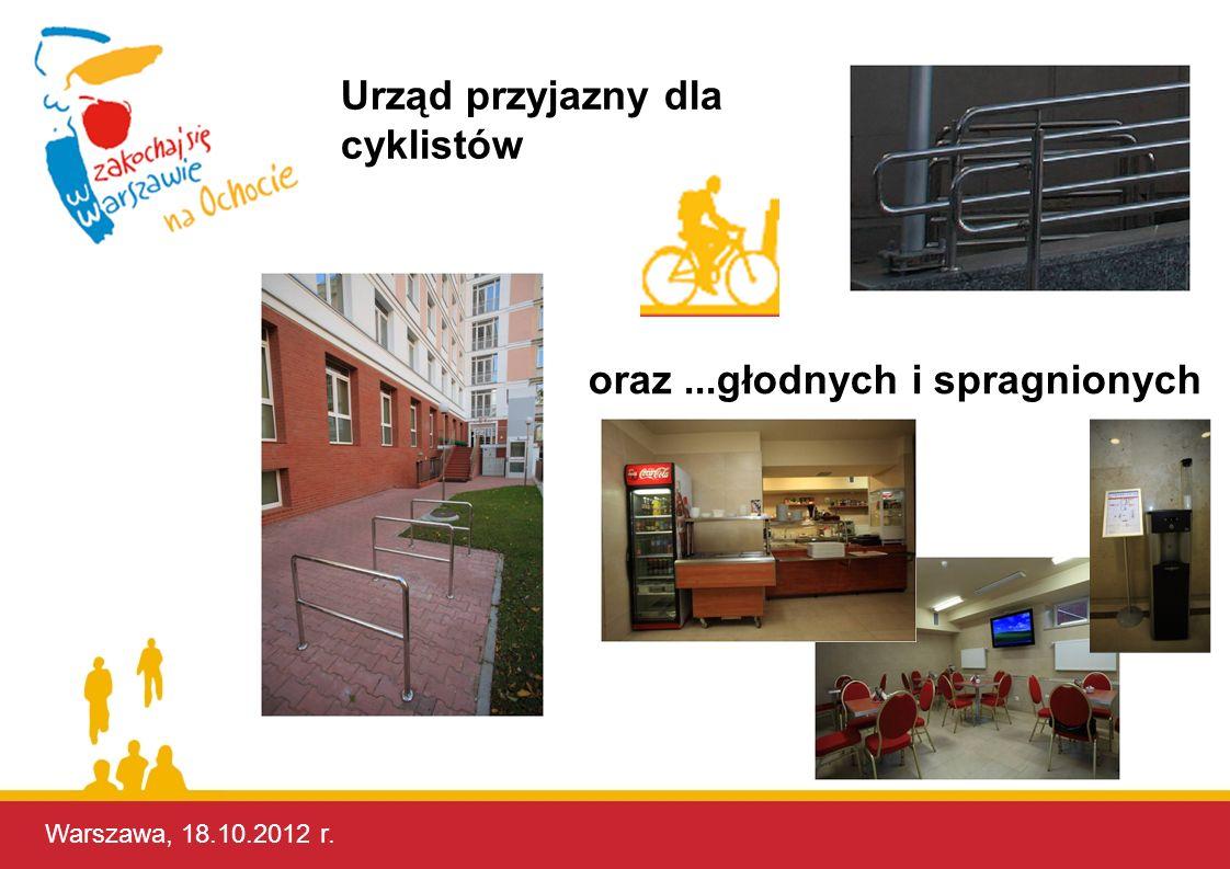 Warszawa, 17.10.2012 r. Urząd przyjazny dla cyklistów oraz...głodnych i spragnionych Warszawa, 18.10.2012 r.