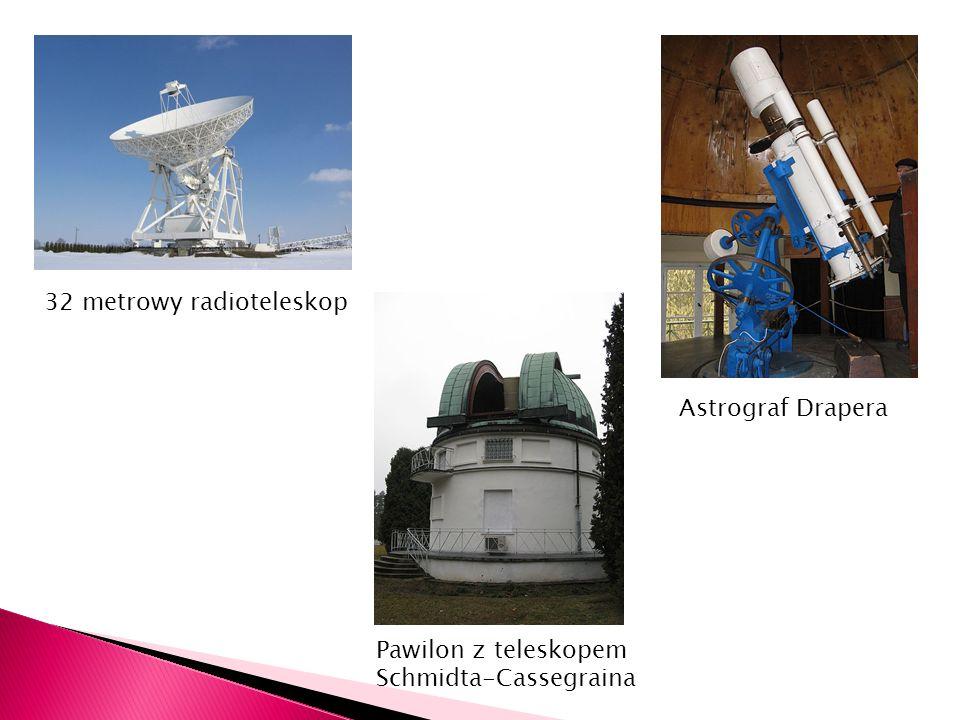 32 metrowy radioteleskop Astrograf Drapera Pawilon z teleskopem Schmidta-Cassegraina