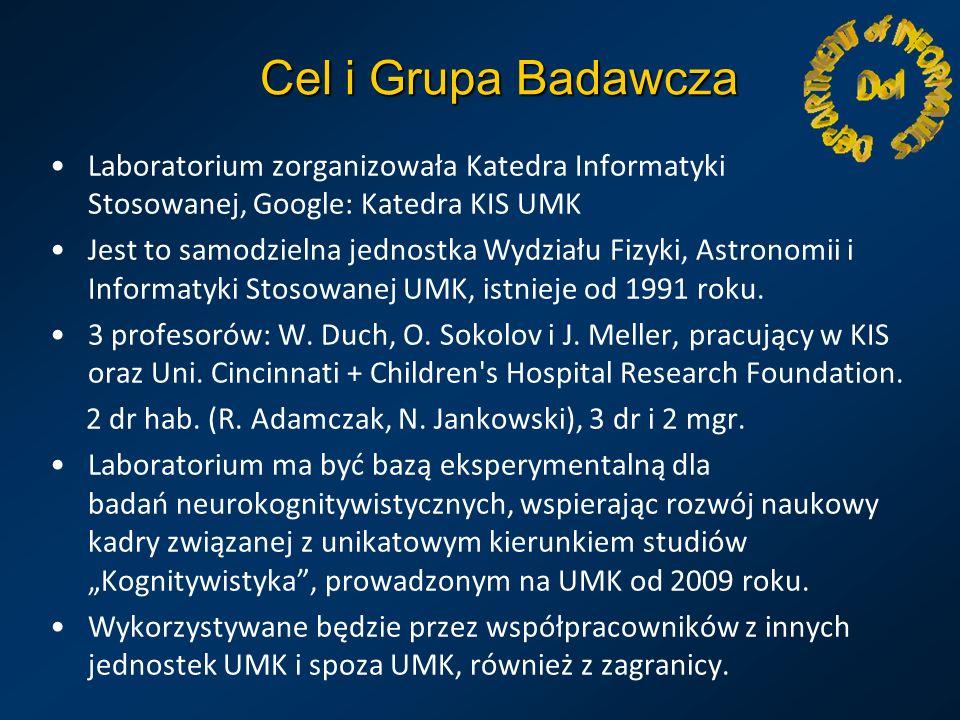 Cel i Grupa Badawcza Laboratorium zorganizowała Katedra Informatyki Stosowanej, Google: Katedra KIS UMK Jest to samodzielna jednostka Wydziału Fizyki,