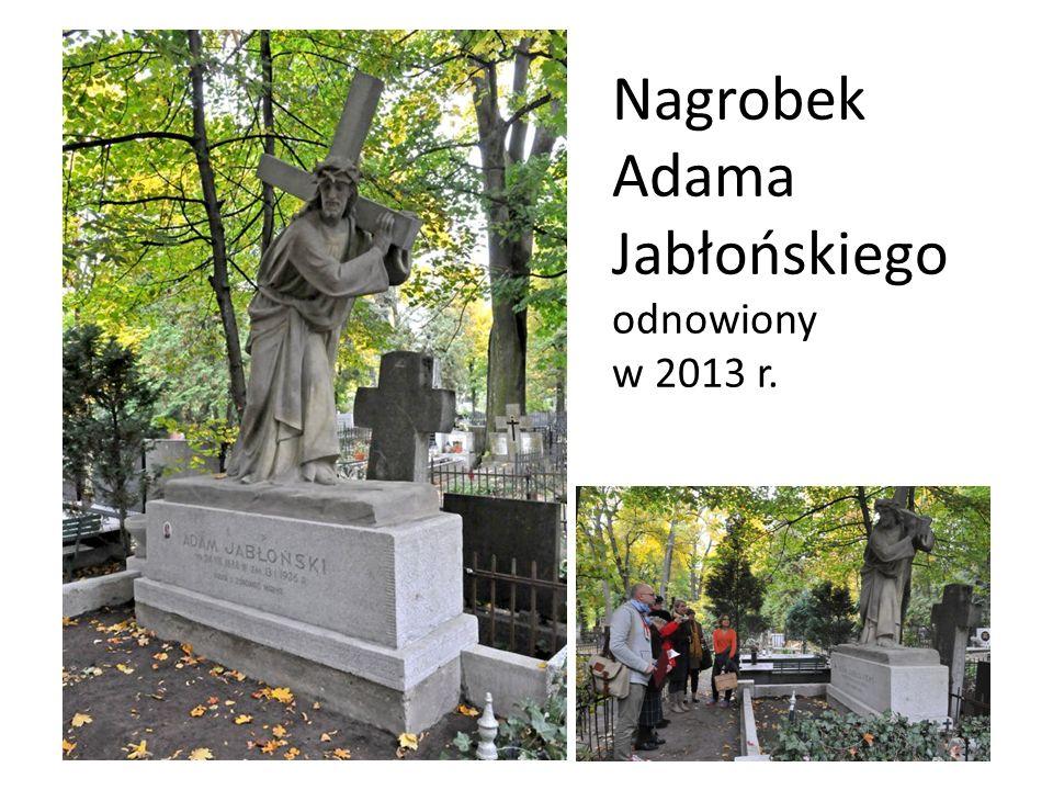 Nagrobek Adama Jabłońskiego odnowiony w 2013 r.