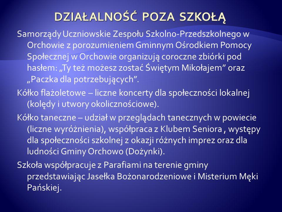 Samorządy Uczniowskie Zespołu Szkolno-Przedszkolnego w Orchowie z porozumieniem Gminnym Ośrodkiem Pomocy Społecznej w Orchowie organizują coroczne zbi