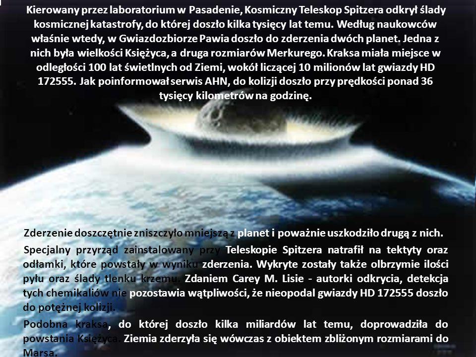 Kierowany przez laboratorium w Pasadenie, Kosmiczny Teleskop Spitzera odkrył ślady kosmicznej katastrofy, do której doszło kilka tysięcy lat temu. Wed