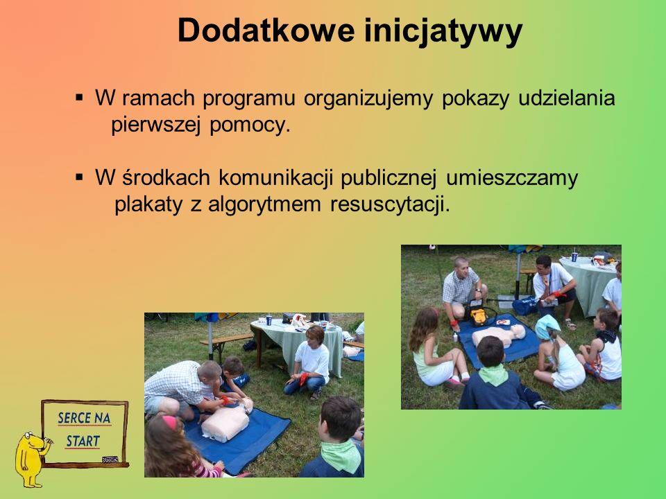 Dodatkowe inicjatywy W ramach programu organizujemy pokazy udzielania pierwszej pomocy.