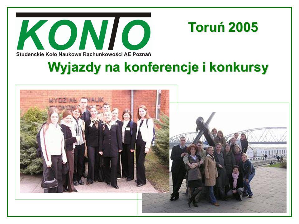 Wyjazdy na konferencje i konkursy Toruń 2005