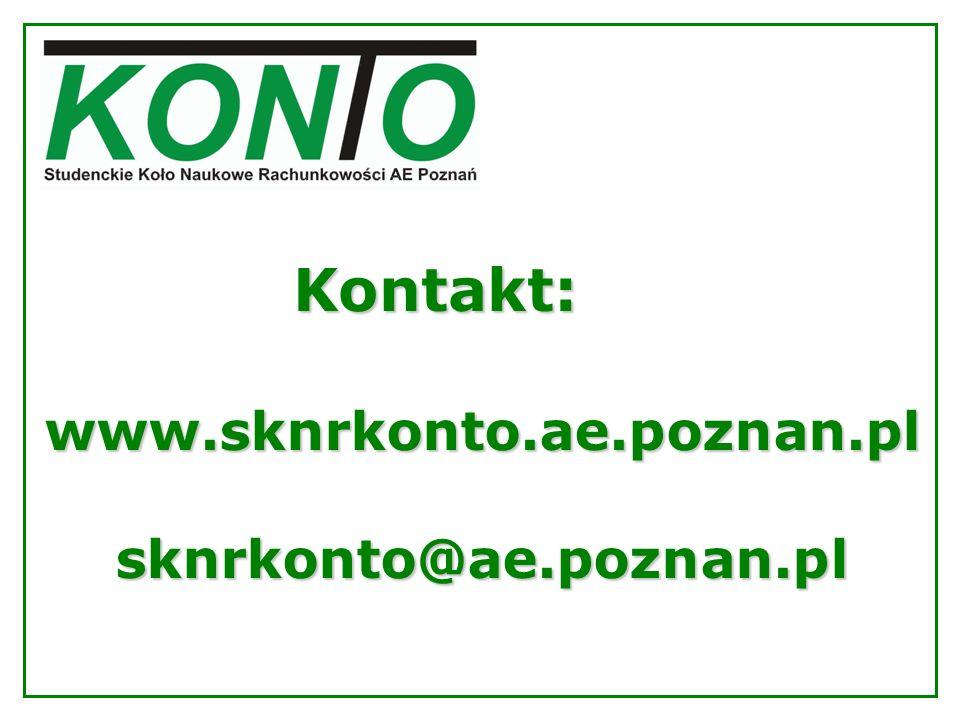Kontakt: www.sknrkonto.ae.poznan.plsknrkonto@ae.poznan.pl
