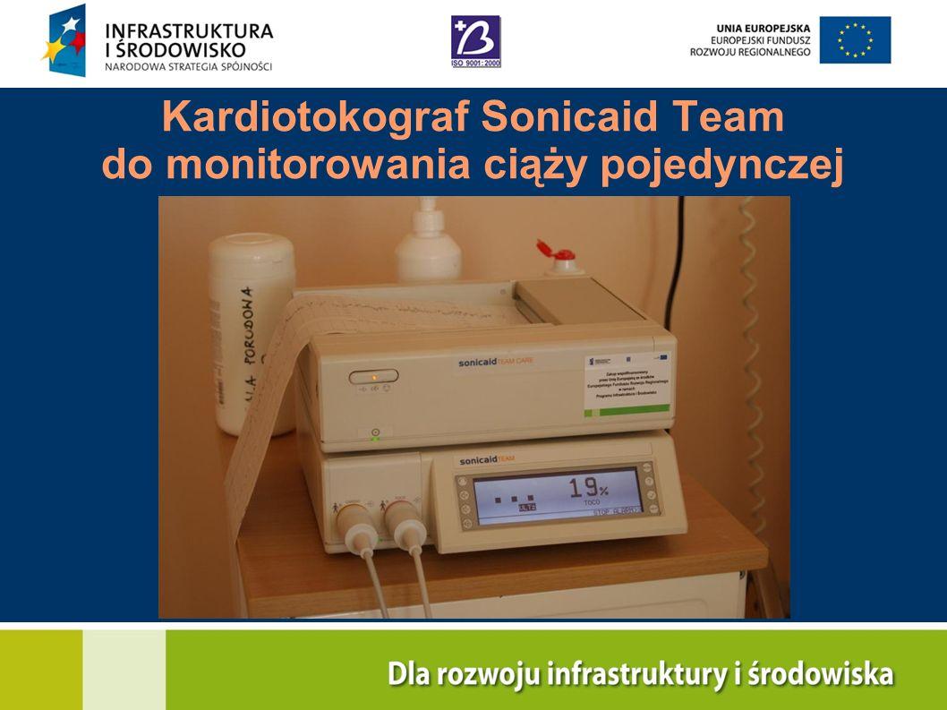 Kardiotokograf Sonicaid Team do monitorowania ciąży pojedynczej