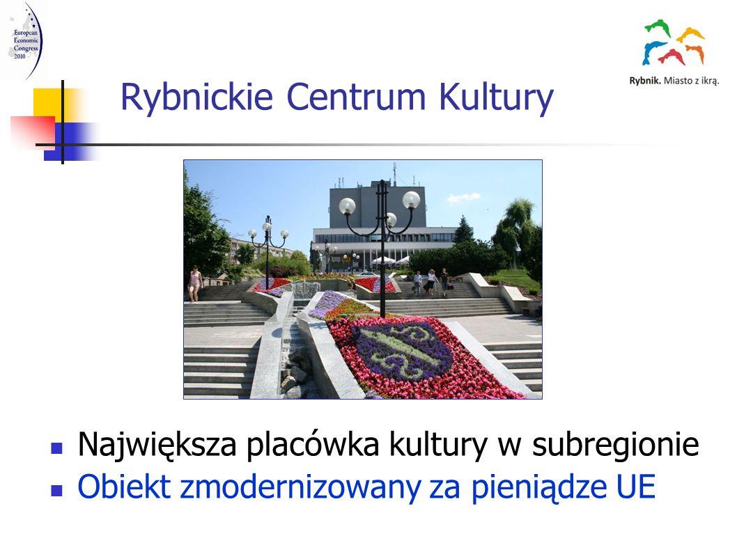 Rybnickie Centrum Kultury Największa placówka kultury w subregionie Obiekt zmodernizowany za pieniądze UE