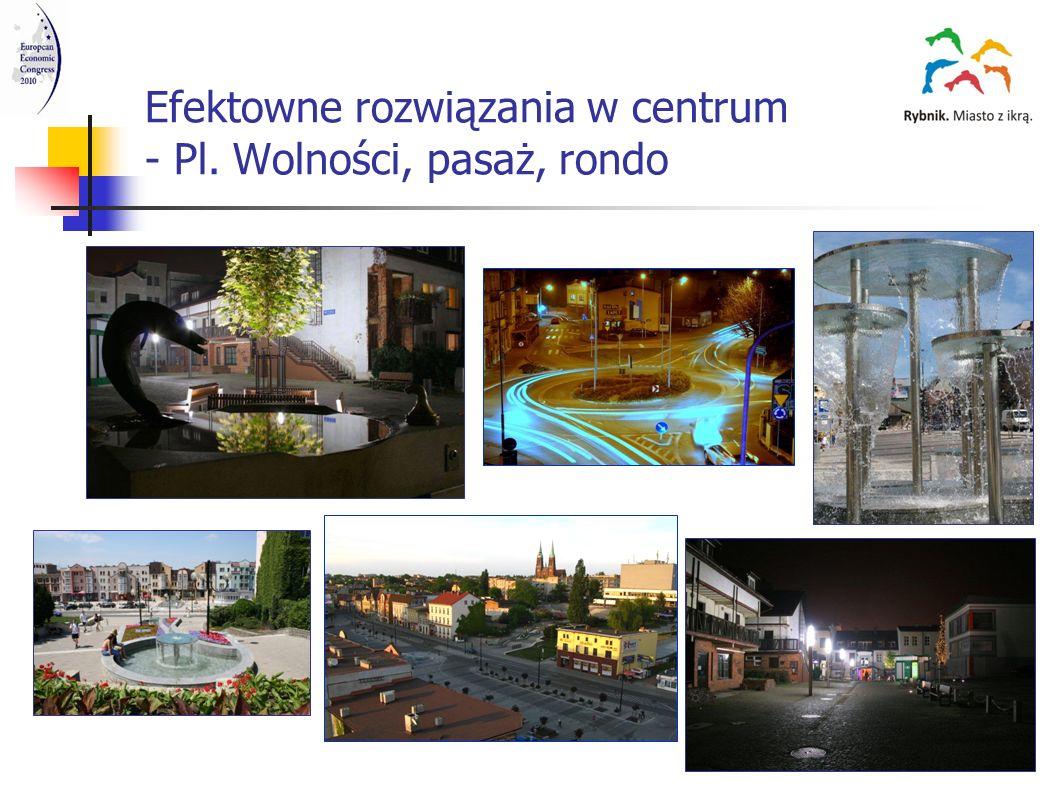 Centra handlowo-rozrywkowe Rybnik Plaza i Focus Mall Rybnik Plaza Rybnik – wcześniej baza transportowa Focus Mall Rybnik - wcześniej browar