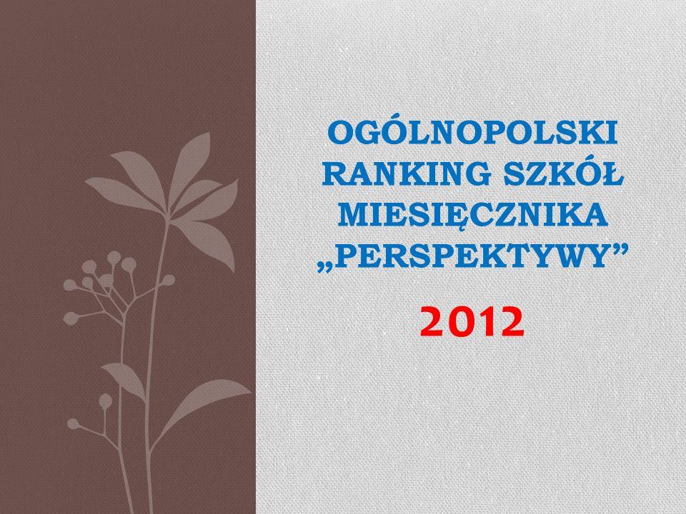 OGÓLNOPOLSKI RANKING SZKÓŁ MIESIĘCZNIKA PERSPEKTYWY 2012
