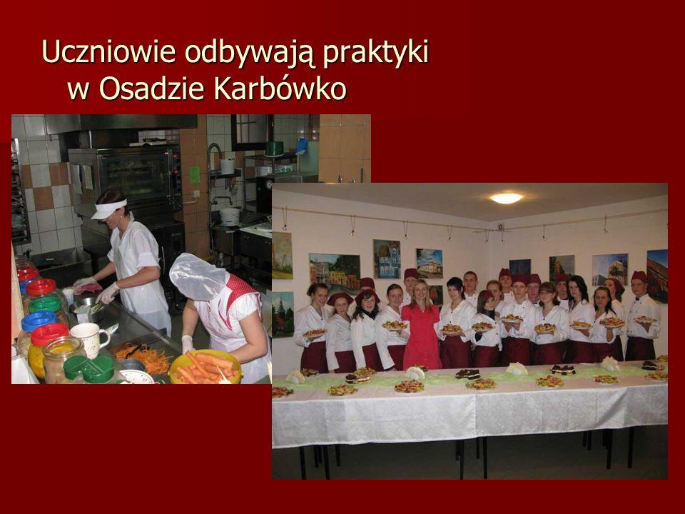Uczniowie odbywają praktyki w Osadzie Karbówko