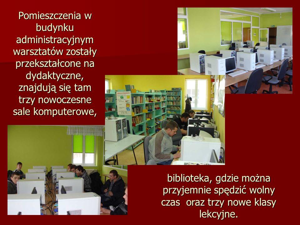 biblioteka, gdzie można przyjemnie spędzić wolny czas oraz trzy nowe klasy lekcyjne.
