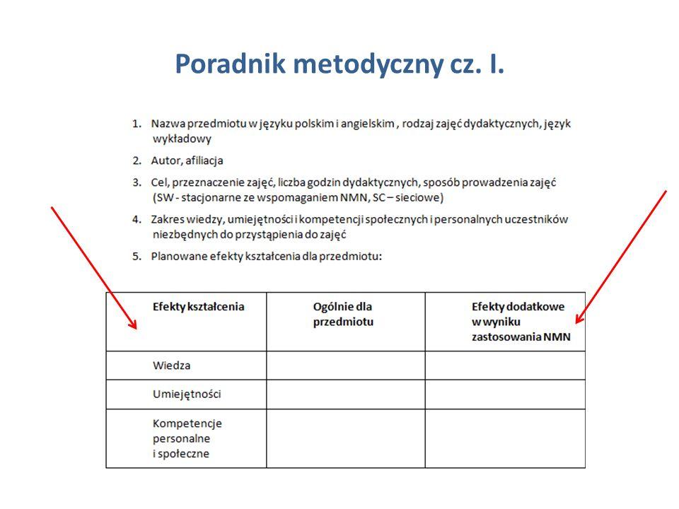Poradnik metodyczny cz. I.