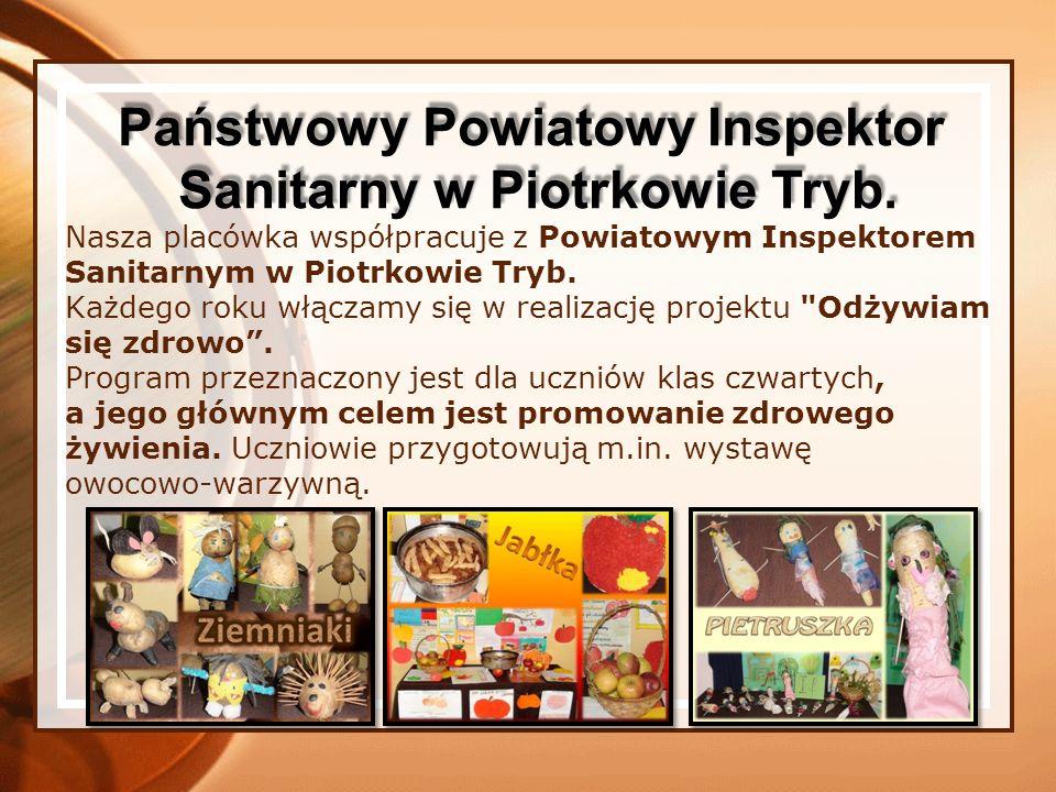 Nasza placówka współpracuje z Powiatowym Inspektorem Sanitarnym w Piotrkowie Tryb.