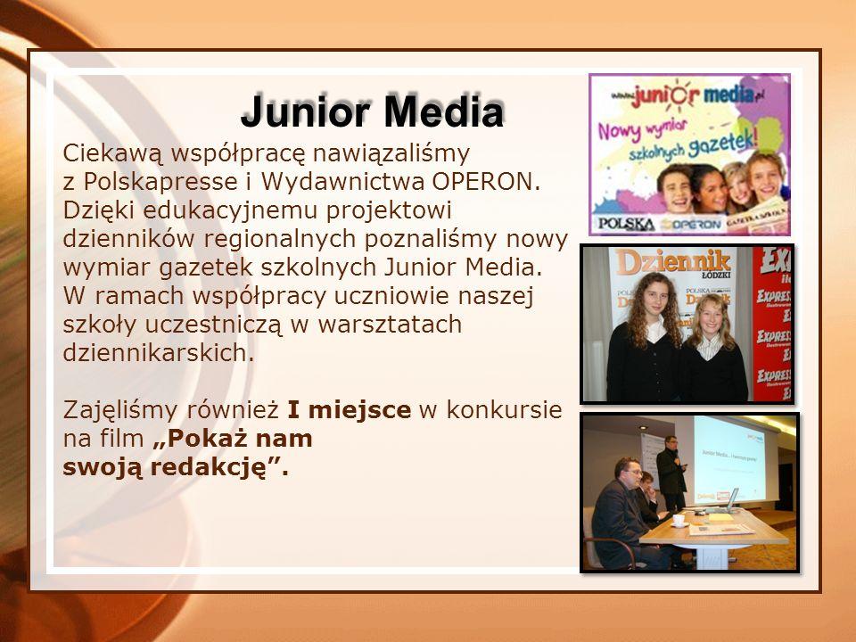 Ciekawą współpracę nawiązaliśmy z Polskapresse i Wydawnictwa OPERON. Dzięki edukacyjnemu projektowi dzienników regionalnych poznaliśmy nowy wymiar gaz