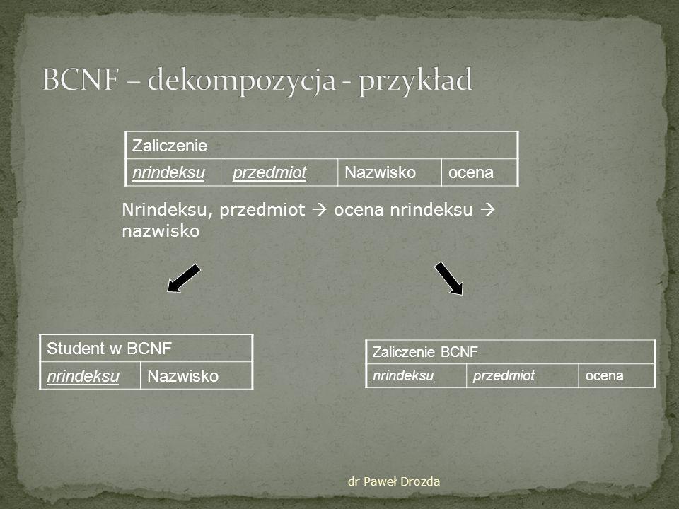 dr Paweł Drozda Oznaczenie: A B – dla każdego zbioru argumentów A istnieje wiele różnych argumentów z B np.