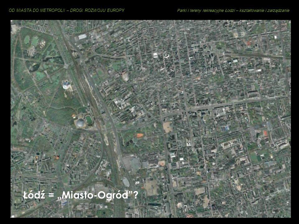OD MIASTA DO METROPOLII – DROGI ROZWOJU EUROPY Parki i tereny rekreacyjne Łodzi – kształtowanie i zarządzanie Cechy charakterystyczne zieleni miejskie