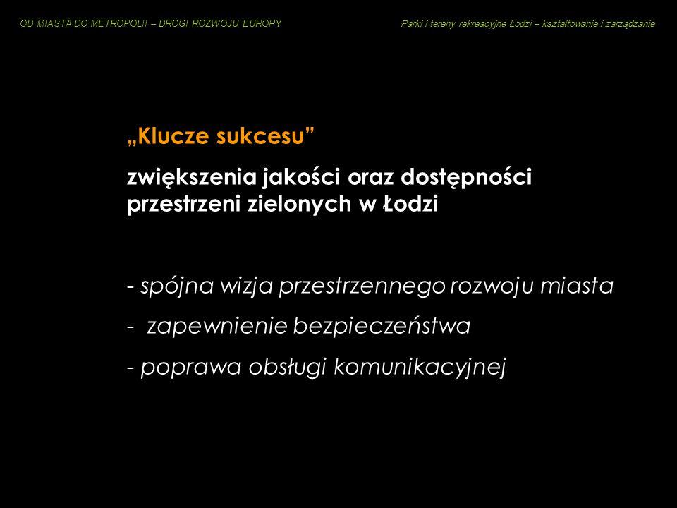 OD MIASTA DO METROPOLII – DROGI ROZWOJU EUROPY Parki i tereny rekreacyjne Łodzi – kształtowanie i zarządzanie Park Ocalałych [z Holokaustu] Pomnik Pol