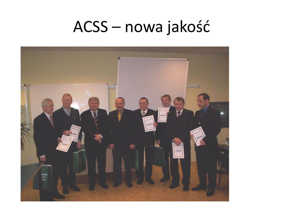 Dokonanie specjalizacji (kategoryzacji) poszczególnych ACSS w zakresie dyscyplin sportowych - we współpracy z polskimi związkami sportowymi