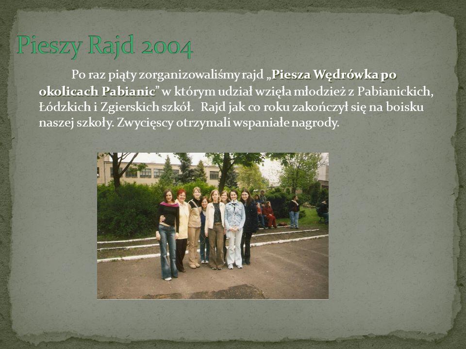 Piesza Wędrówka po okolicach Pabianic Po raz piąty zorganizowaliśmy rajd Piesza Wędrówka po okolicach Pabianic w którym udział wzięła młodzież z Pabianickich, Łódzkich i Zgierskich szkół.