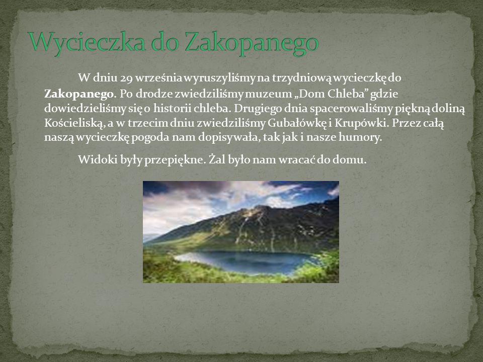 W dniu 29 września wyruszyliśmy na trzydniową wycieczkę do Zakopanego.