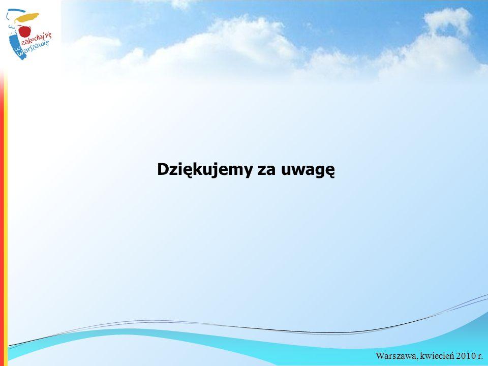 Warszawa, kwiecień 2010 r. Dziękujemy za uwagę