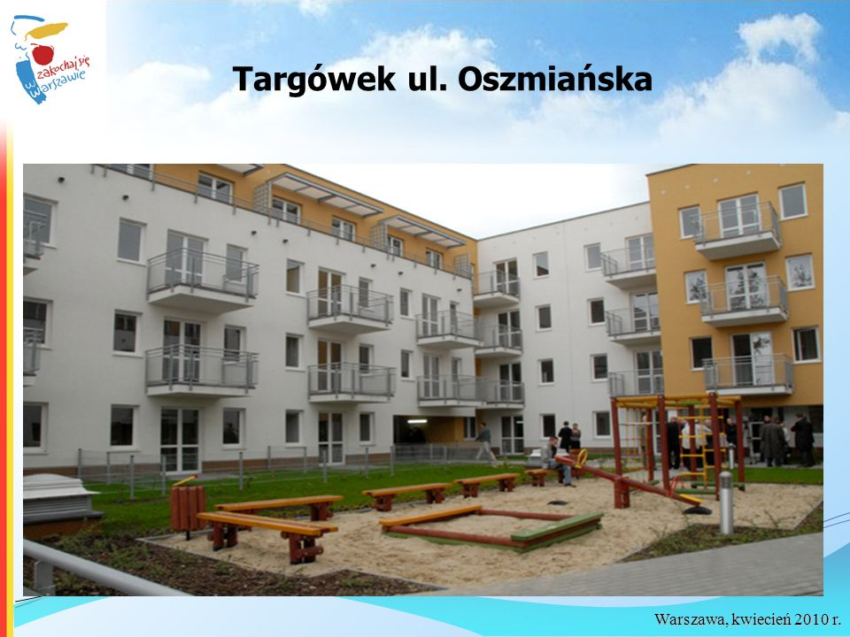 Warszawa, kwiecień 2010 r. Targówek ul. Oszmiańska