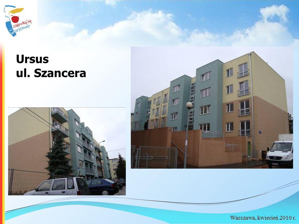 Warszawa, kwiecień 2010 r. Ursus ul. Szancera