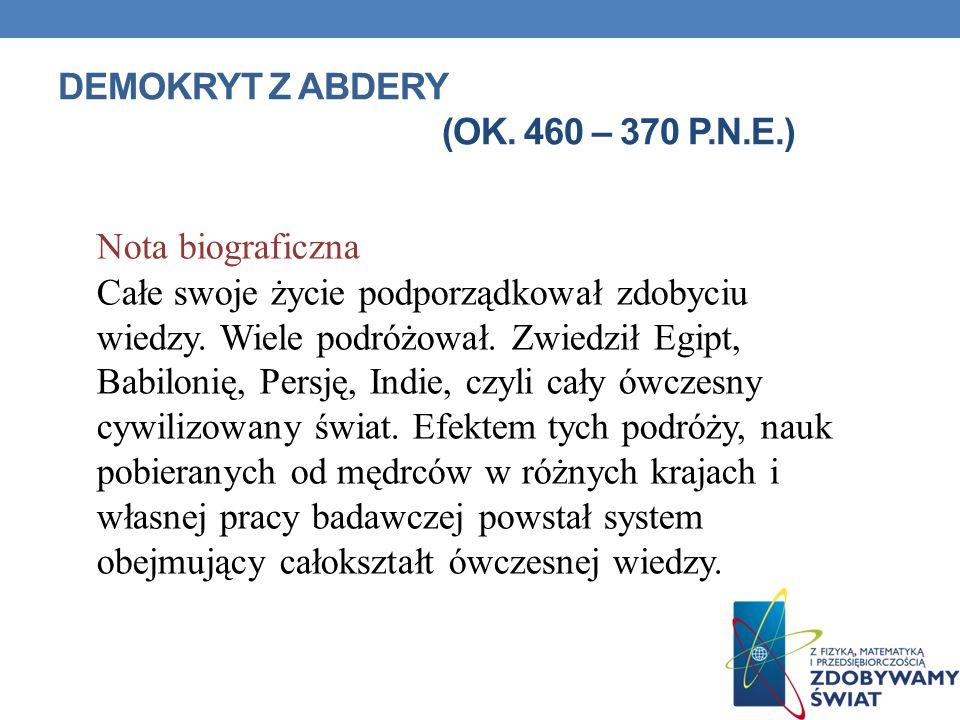 ARYSTOTELES ZE STAGIRY (OK. 384 – 322 P.N.E.)