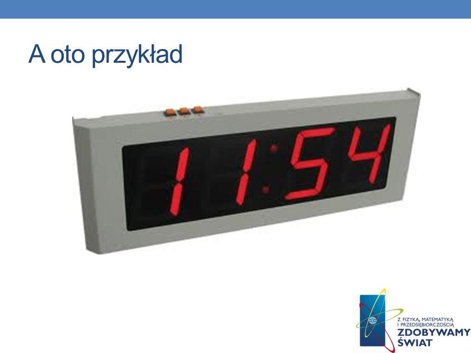 Później powstały zegary elektroniczne to urządzenia elektroniczne, które wyświetla czas na wyświetlaczu lCD w sposób cyfrowy, przeciwieństwie do zegar