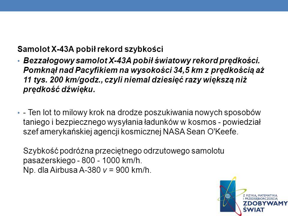 Wartości prędkości (szybkości) w naszym otoczeniu Szybkość sprintera - ok. 10 m/s.Dopuszczalna szybkość samochodu w Polsce - na terenie zabudowanym -