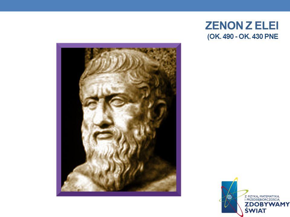 Poglądy Zenon z Elei sformułował wiele paradoksów i dowodów na niemożność istnienia wielości rzeczy i ruchu. Cztery jego dowody o niemożności ruchu zn