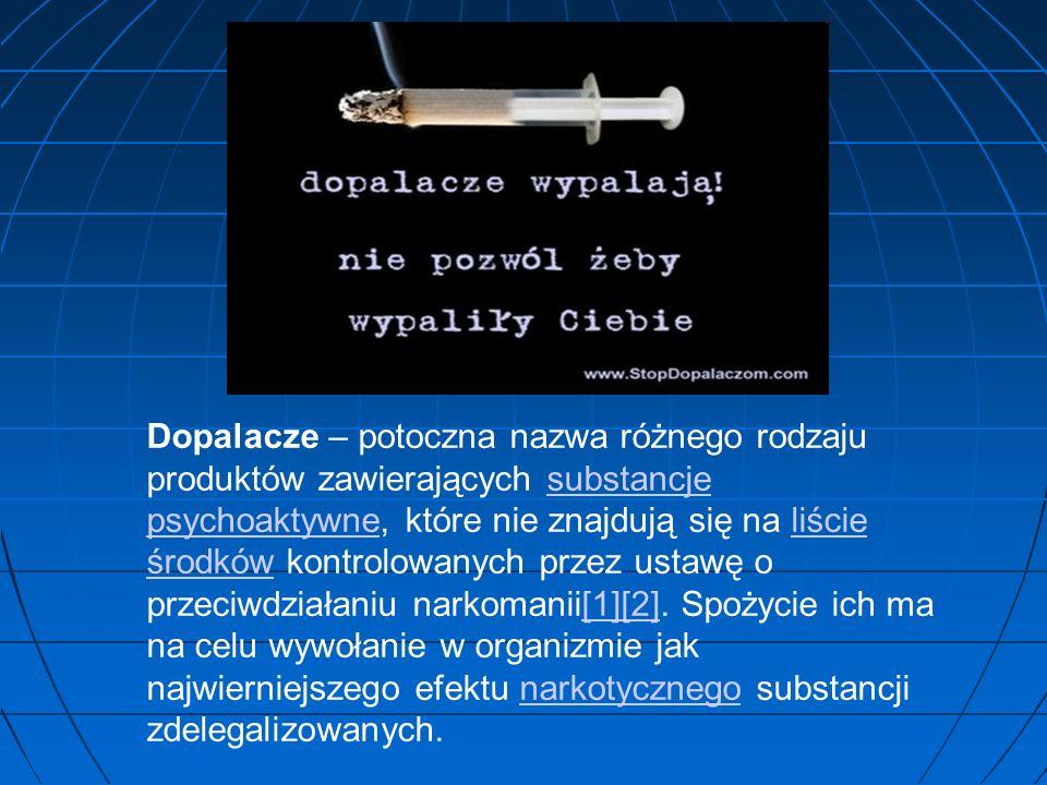 Dopalacze – potoczna nazwa różnego rodzaju produktów zawierających substancje psychoaktywne, które nie znajdują się na liście środków kontrolowanych p