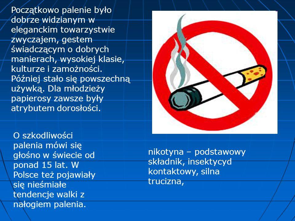 Nikotynizm wydaje się być pozornie bezpieczną praktyką.