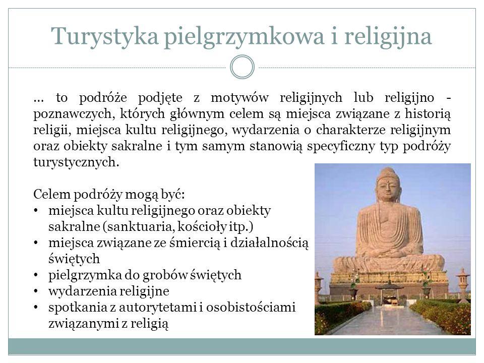 Turystyka pielgrzymkowa i religijna … to podróże podjęte z motywów religijnych lub religijno - poznawczych, których głównym celem są miejsca związane